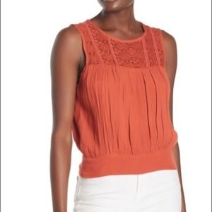 Willow and Clay lace tank top